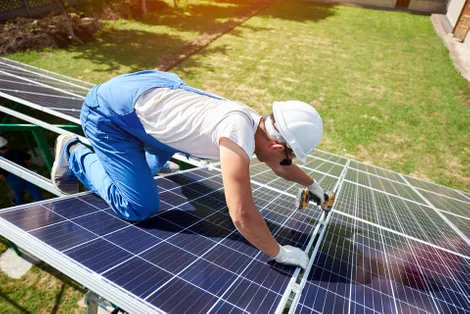 Cost effective solar panel installation
